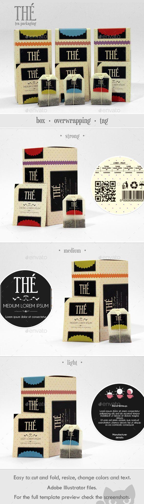 Retro Tea Packaging
