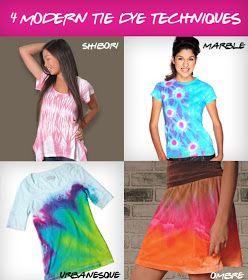 iLoveToCreate Blog: 4 Modern and Unique Tie Dye Techniques