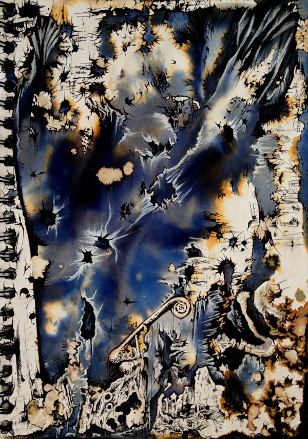 20 best images about ink and bleach painting ideas on