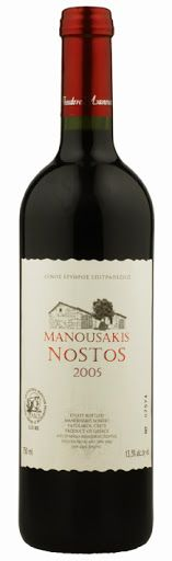 Manousakis Winery - Manousakis Nostos 2008. Grape varietals: Grenache Rouge, Mourvedre, Syrah and Roussanne. The wine is certified organic. Our price, DKK 182.00