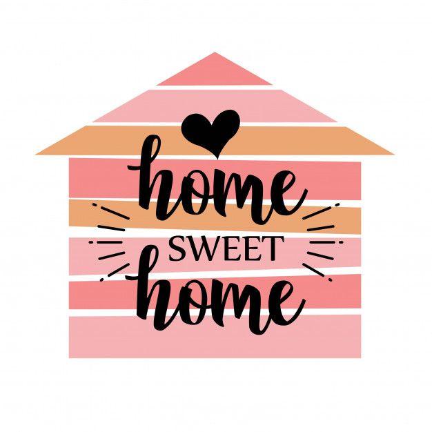 Handwritten Word Home Sweet Home Vector Illustration Sweet