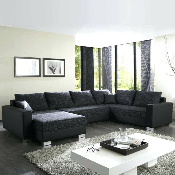 9 Angenehm Bild Von Wohnzimmer Ideen Schwarzes sofa