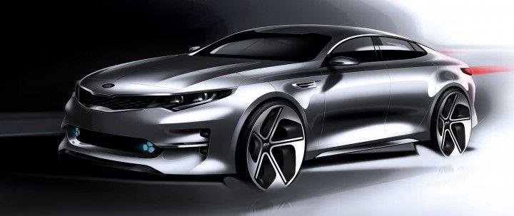 Kia reveals design sketches of next-gen Optima - Image Gallery