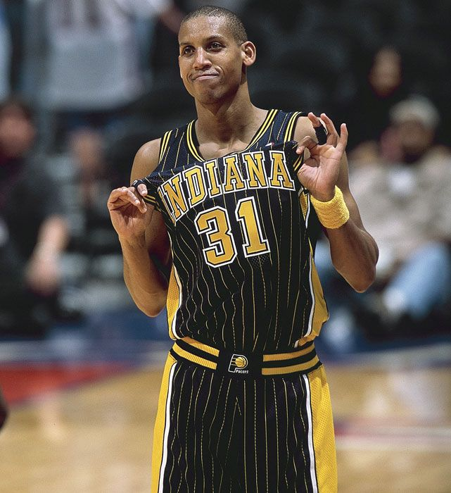 REGGIE MILLER | Athlete, Olympian, Sports Analyst | Country: USA | Sports: Basketball - National Basketball Association | 31 - Indiana Pacers (18 Years) | Active: 1987-2005 | NBA All Time Points Made - 14th (25,279 points) | NBA All Time 3-Point Field Goals Made - 2nd (2,560 field goals) | 1996 Olympic Gold Medalist - Basketball | #reggiemiller #nba #basketball