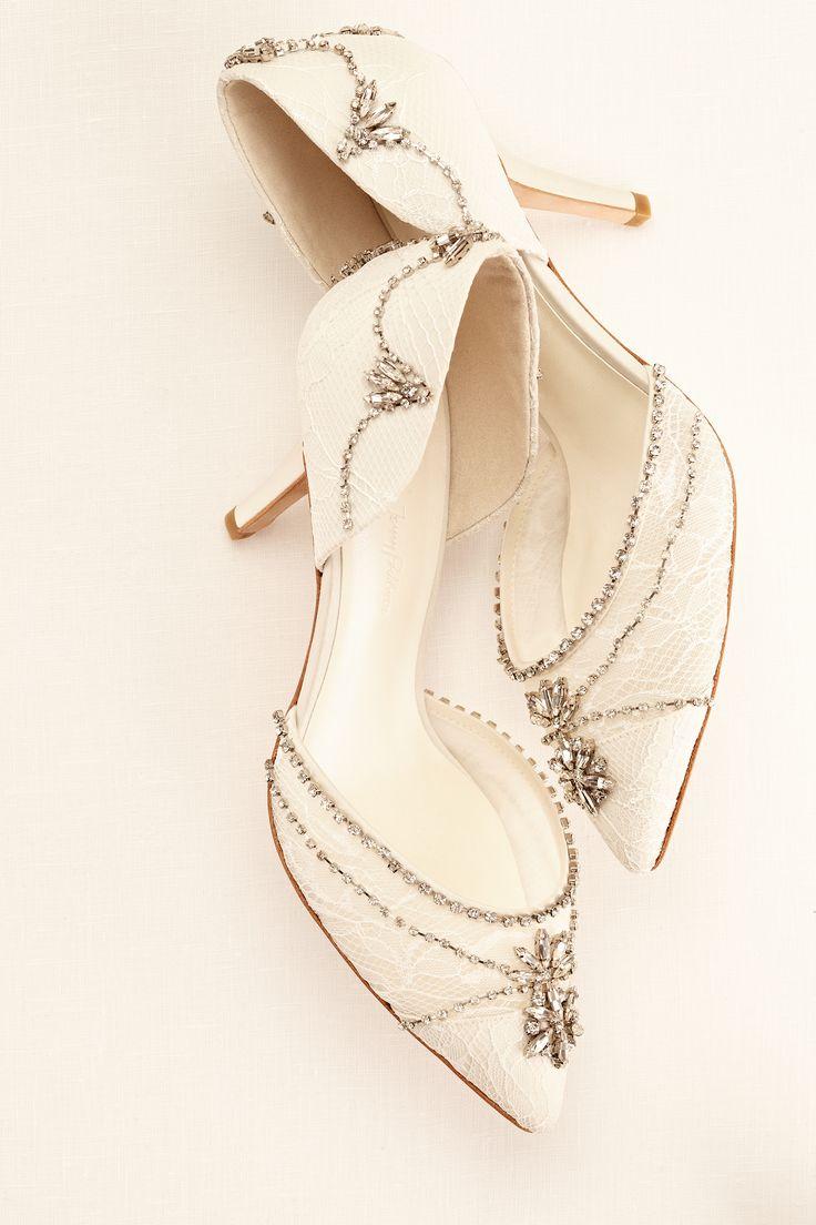 (PINTEREST PRESALE) Crystal Embellished Closed Toe Pump   Wonder by Jenny Packham exclusively at David's Bridal