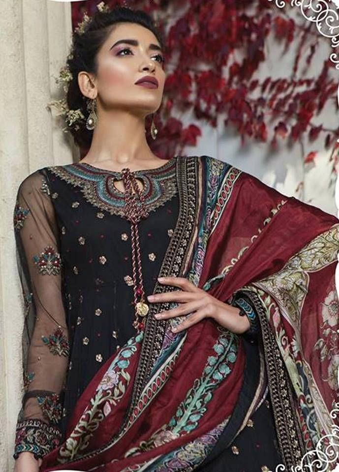 552d9bb8cd SATEEN Unstitched Fall Collection 2019 By Maria-B - PK Vogue #mariab # fashion #pakistanistyle #shalwarkameez #pakistanidresses