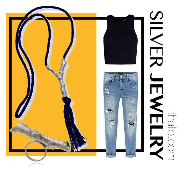 Silver jewelry by thallo on Polyvore featuring T By Alexander Wang and silverjewelry