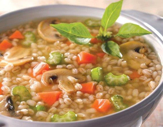 Sopa de verduras con cebada perla