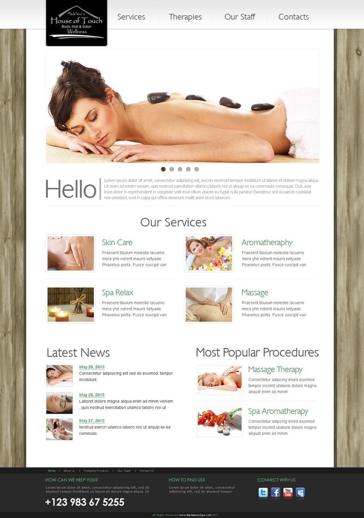 Madelenes Spa Website v2