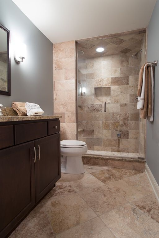 Contemporary 3 4 Bathroom With Partial Backsplash Undermount Sink Three Quarter Bath Complex