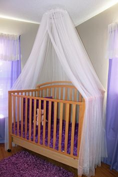 Skinny Latte Mommy: DIY: How To Make A Crib Canopy