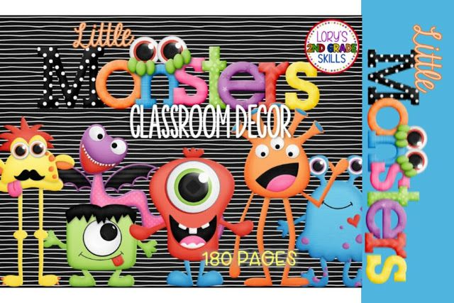 First project for the summer complete...this is my new classroom theme for the new year.LITTLE MONSTERSSometimes.... I'm the monster.... sometimes the kids are little monsters...Just darn cute clipart