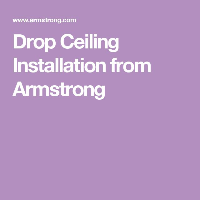 Drop Ceiling Installation from Armstrong