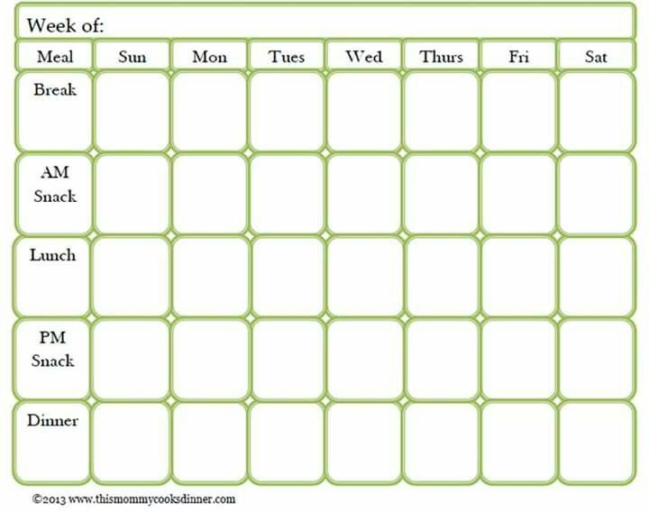 Best Menu Planning Images On   Weekly Meals