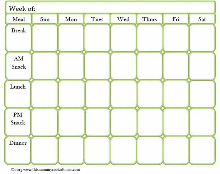 7 best Menu Planning images on Pinterest Weekly meals - menu planning template