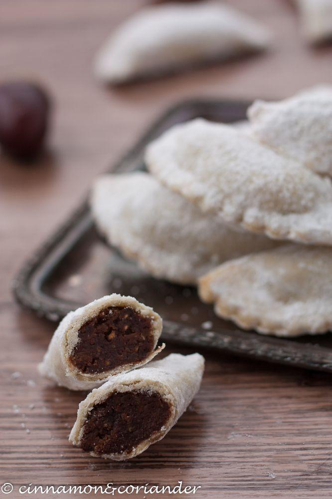 Italian Christmas Cookies With Chestnut Filling Chestnut Tortelli