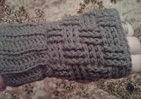 Mero`s Crochet : fingerless gloves with basket weave stitch
