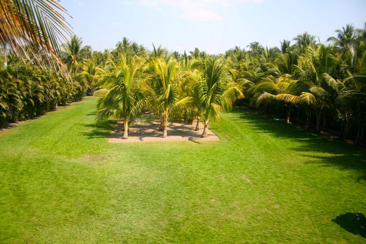 We have a big yard where kids can play at Casa Garífuna beach house vacation rental in Playa Costa Azul El Salvador.