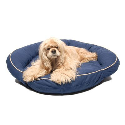 Zoey Tails Classic Twill Bolster Dog Bed & Reviews | Wayfair