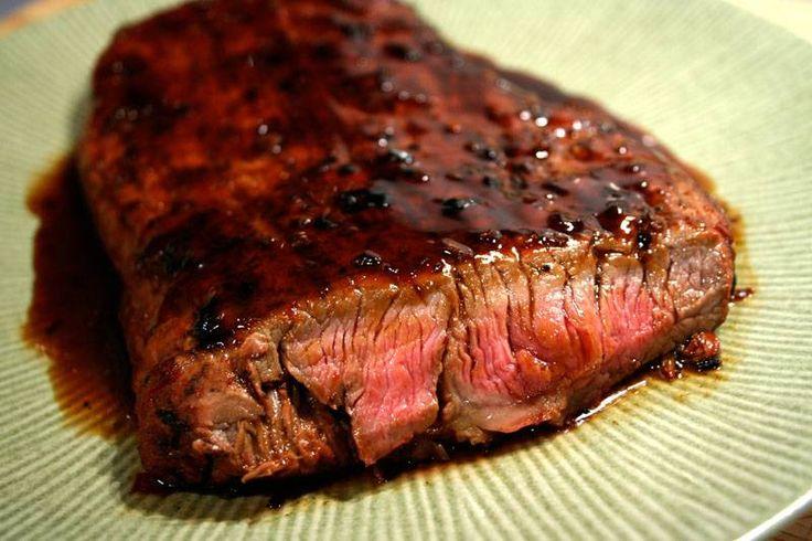 Bourbon and Brown Sugar Flank Steak - Smackchow.com