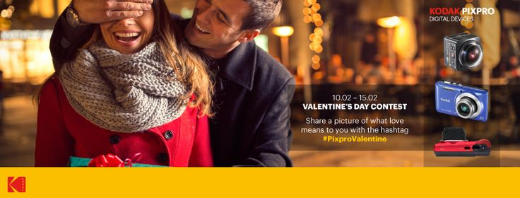 Valentine's day is right around the corner, and is the perfect occasion for you to celebrate love and for us to share the love. Share a picture of what love means to you with the hashtag #PixproValentine for a chance to win a 360 cam Kodak Pixpro SP360 4K or digital cameras FZ151 or FZ52. Help us to spread the word by sharing with your friends and increase your chances of becoming our Valentine !