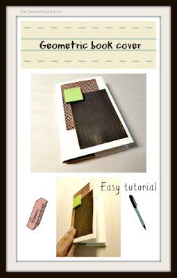 Make it easy crafts: How to quickly make a fun, geometric book cover