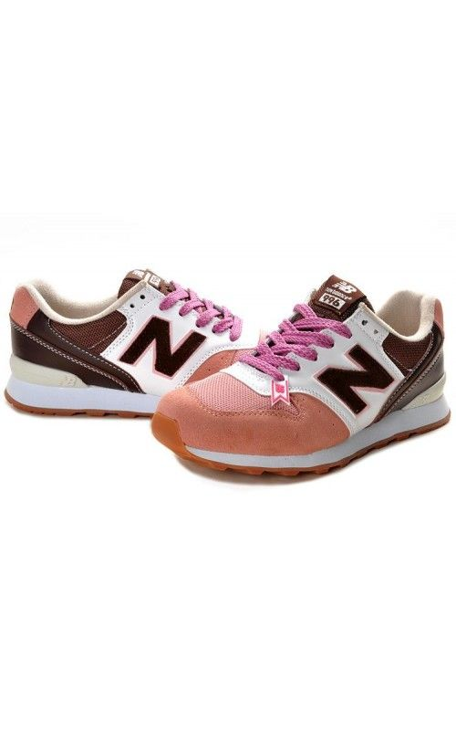 Womens Pink White Brown Shoes New Balance 996 Cheap