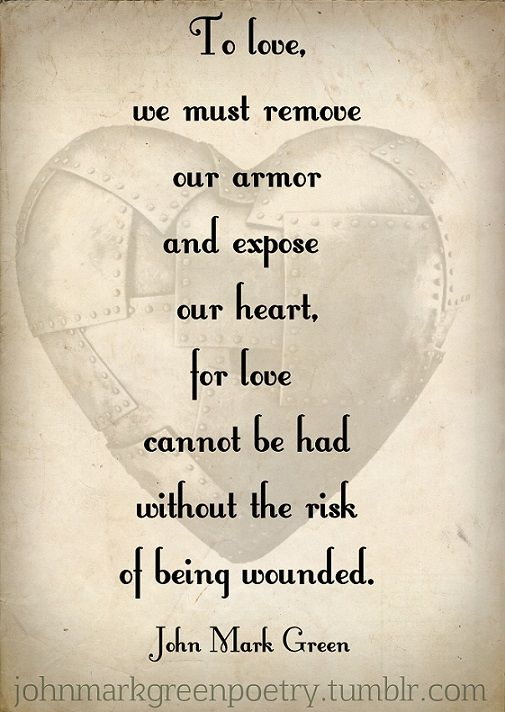 Funny how we always talk about how we must love God and breaking the barriers of our heart to live Him, but do we ever think about how He risked his life knowing he would be wounded? I thinks it's easier to risk your heart not knowing than to do so knowing that some won't love you in return.