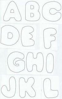 Art's by Catita: Alfabeto para feltro, patchcolagem