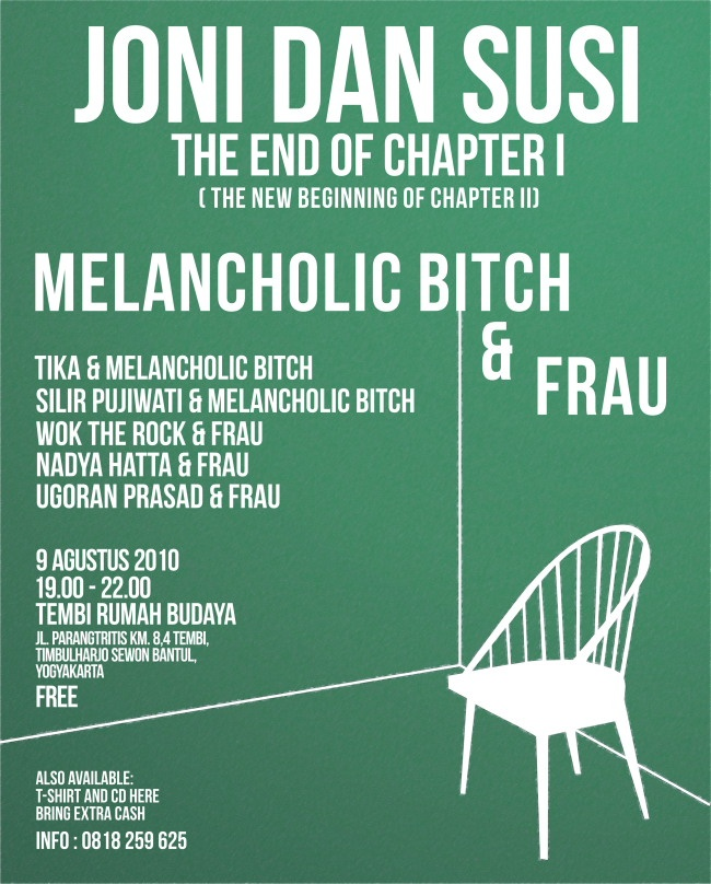 POSTER Music event - JONI DAN SUSI (the end of chapter I)