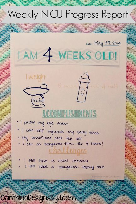 Free Weekly NICU Progress Reports