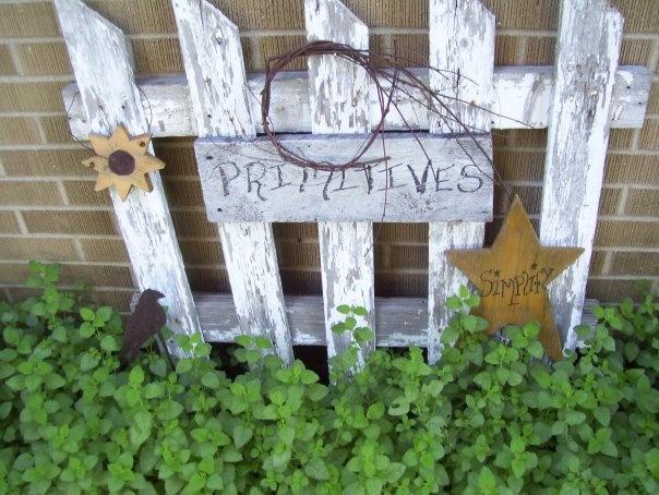 Primitive Garden Picket Au En Deko Vintage Pinterest