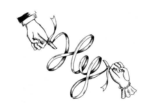 結婚式のペーパーアイテムなどに使用するイニシャルロゴです。