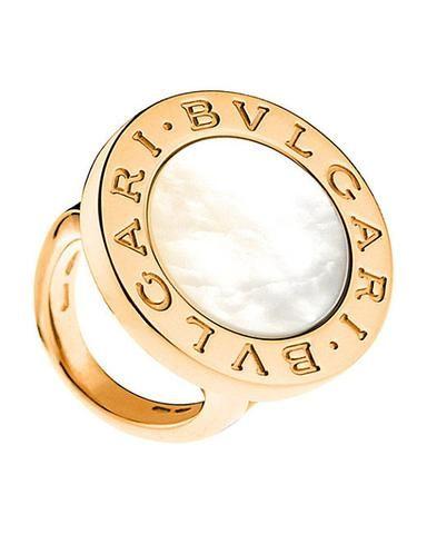 bvlgari bulgari inspired 14ct pinkrose gold and ring