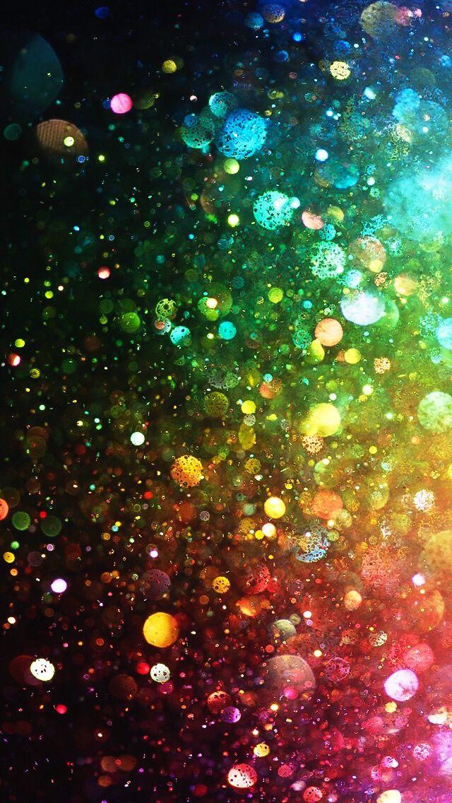 Rainbow Bokeh wallpaper, Glitter phone wallpaper