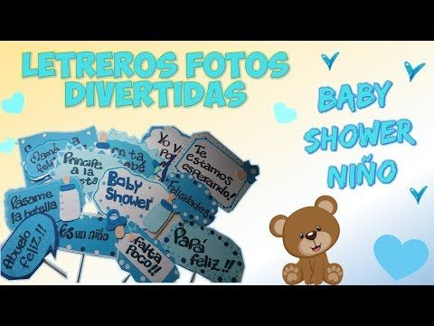 Adornos para baby shower niño - Decoración DIY MANUALIDADES - YouTube
