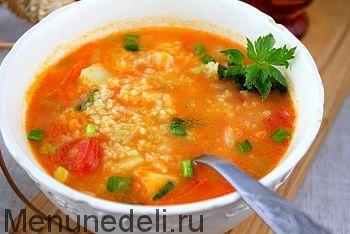Рецепт супа с пшеном и овощами / Меню недели