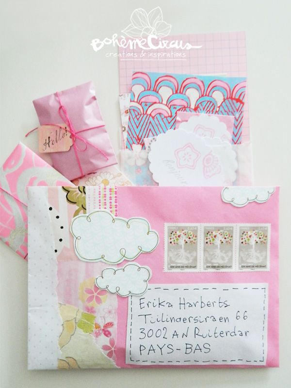 Envelope snail mail art | pinned by weememories .. www.weememories.net