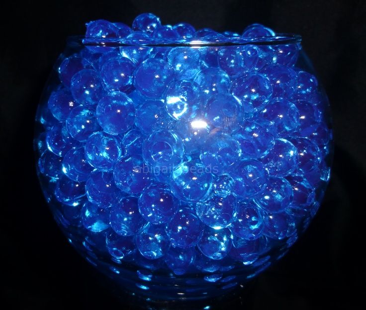 Blue Water Beads Hydrated Absorbing Gel Magic Marble