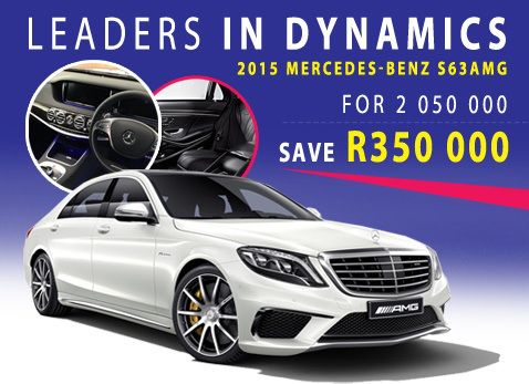 Save R350 000 on a 2015 Mercedes benz S63 AMG