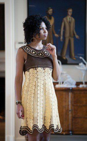 Great crochet dress!