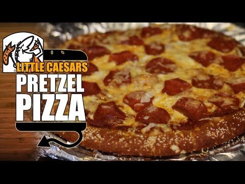 Little Caesar's Soft Pretzel Crust Pizza Recipe Remake with Pizza Sauce - HellthyJunkFood - YouTube