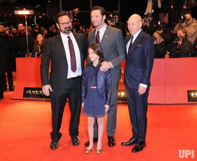 American director James Mangold, Australian actor Hugh Jackman, British actress Dafne Keen and British actor Patrick Stewart attend the…