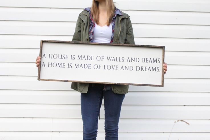 A House Is Made Wood Sign. Farmhouse Style. Rustic Decor. Wooden Signs. Farmhouse Decor. Rustic Signs. Housewarming Gift. Word Art. by WilliamRaeDesigns on Etsy https://www.etsy.com/listing/468600964/a-house-is-made-wood-sign-farmhouse