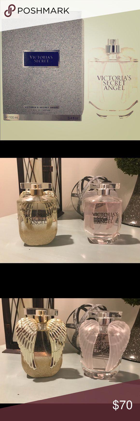 """Victoria's Secret """"Angel"""" perfume Victoria's Secret Angel Eau De Parfum 3.4oz 2 bottles available. 1 is gold and 1 is pink. Victoria's Secret Makeup"""