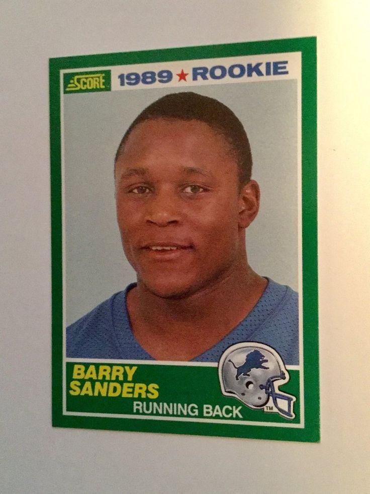 Barry sanders score football rookie card 1989 football