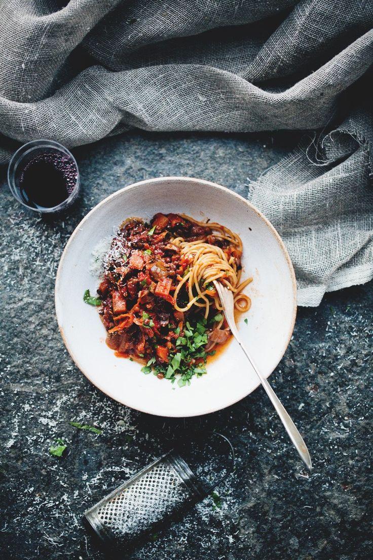 Black Lentil and Vegetable Bolognese