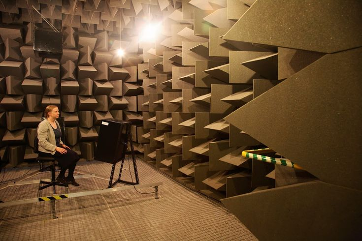 Does an anechoic chamber cause hallucinations? by acousticengineering: In a very quiet anechoic chamber(echo free), no sound from the outside world enters you ear canals. That does not mean, however, that you hear silence. You might hear the blood gently pumping through your head, or a high-pitched hiss caused by spontaneous firings of the auditory nerve... #Acoustics #Anechoic_Chamaber