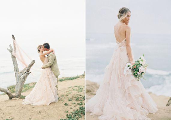 Blush coastal wedding inspiration | Photo by Carmen Santorelli | Read more - http://www.100layercake.com/blog/?p=74029