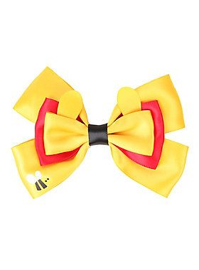 "Hair bow from Disney with a Winnie the Pooh cosplay design.<ul><li> 5"" across </li><li>Imported</li></ul>"